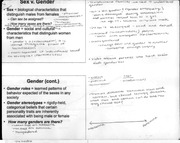 notes - sex vs. gender