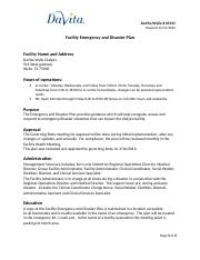 Disaster and Emergency Plan wylie 12.2015.doc