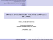 DerivationChaine