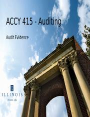 ACCY 415 Day 7 Management Assertions and Audit Evidence.ppt