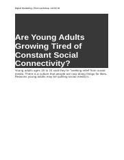 Are Young Adults Growing Tired of Constant Social Connectivity (Autosaved).docx