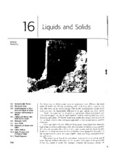 Chapter 16 - Liquids and Solids