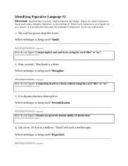Figurative Language Worksheet 04 Docx Figurative Language