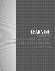 Learning(1)