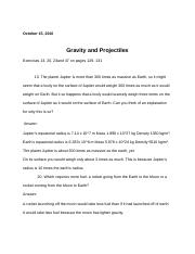 Gravity and Projectiles.docx