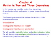 Chapter4 Motion in Two and Three Dimensions