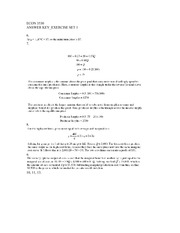 ECON 3530 Fall 2008 Exercises Set 1 Solutions