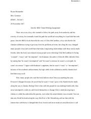 Into the Wild Timed Write.docx