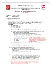 CE 305 Homework 3 SOLUTIONS S2014