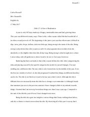 Overview of Year Essay