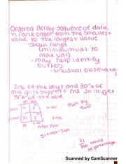 Order Array And Frequency Distribution Notes