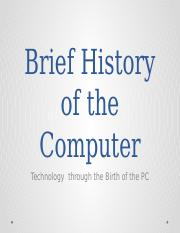 Brief History of the Computer.pptx