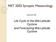 lecture 22 on Synoptic Meteorology