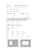 Answers to Practice Exam Over Set Theory and Logic