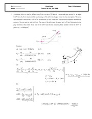 Final Exam 2009 Solution on Intermediate Mechanics of Fluids
