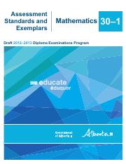 Math 30-1 Standards and Exemplars (2012-2013).pdf