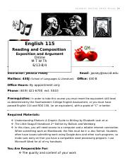 English 115 Summer Online-Syllabus.doc