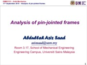 20150917 - Analysis of pin-jointed frames