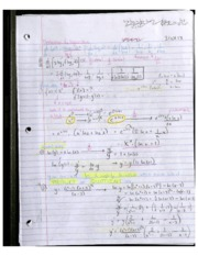 Derivatives and Logarithms 3.10.13