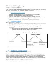 Module 3 - The basics of argument-1