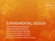 Experimental Design Slides 03-24
