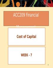 Week  07 - Cost of Capital.pptx