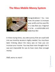 mass mobile money system