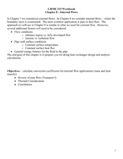 CHME 333 Workbook Handouts - Chapter 8