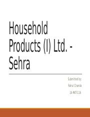 Household Products (I) Ltd.pptx
