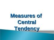 Measures of Central Tendency (Ungrouped Data)