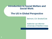 Intro to Social Welfare and Social Work