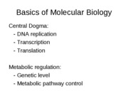lecture notes-molecular biology-central dogma-web
