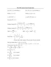 FRL 300 Common Exam Formula Sheet