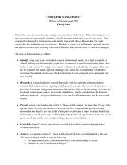 Ethics Group Case Handout