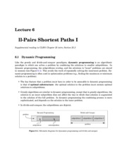 All-Pairs Shortest Paths I notes