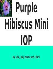 Purple Hibiscus Mini Iop Zoe Charli Nardi Taajpptx Purple