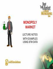 Lecture Notes Monopoly Market with BTM data - S171.ppt