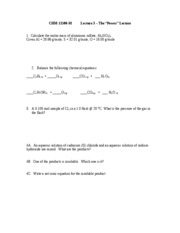 Chem 115 lecture 3 problems