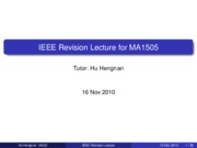 IEEE maths revision notes