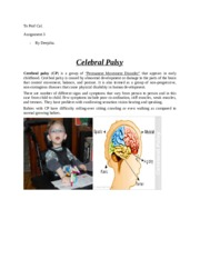 assignment celebral palsy