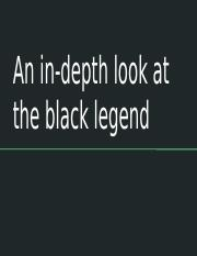 An in-depth look at the black legend