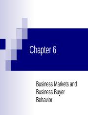 CH06 - Business Markets and Business Buyer Behavior.ppt