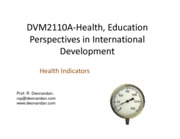 LECTURE 3 - Health Indicators
