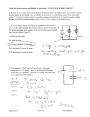 EXAM 2 SPRING 2012 SOLUTION KEY