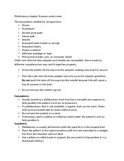 Phlebotomy chapter 8 PP notes.docx