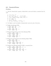 Differential Equations Lecture Work Solutions 180