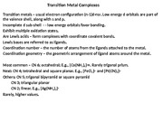 Transition Metal Complexes(1)