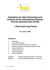 Guidelines for data processing and analysis