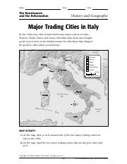 Geo Major Trading Cities in Italy.pdf