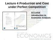 Lecture 04 - Production and Cost under Perfect Competition